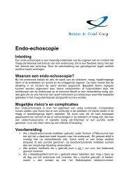 Waarom een endo-echoscopie?