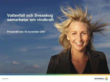 Vattenfall och Sveaskog samarbetar om vindkraft