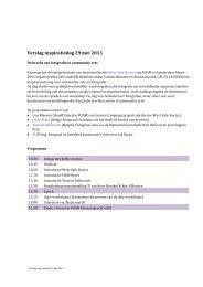 Verslag Inspiratiedag 29 mei 2013