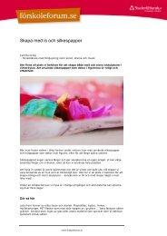 Skapa med is och silkespapper