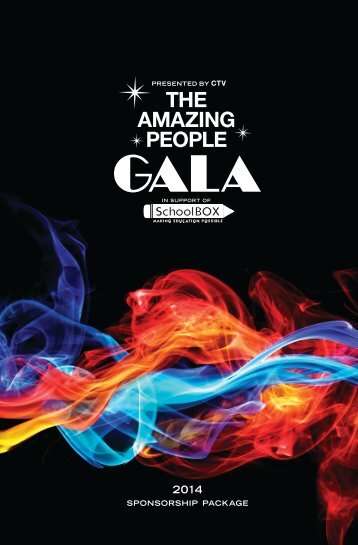 The Amazing People Gala 2014 - Sponsorship Package