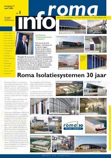 RomaInfo jaargang 17-1 België 2008 - Roma Isolatiesystemen