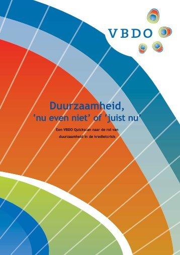 VBDO - Onderzoek kredietcrisis.pdf - MVO Nederland