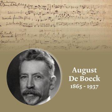 August De Boeck 1865-1937 - Academie Asse