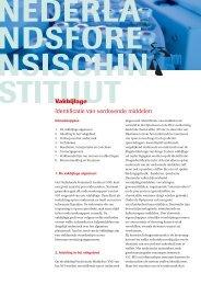 NFI-vakbijlage Identificatie van verdovende middelen - Nederlands ...
