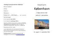 Tilmelding til pensionisttræf 2011 i København: