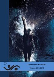 Zwemboekje DSZ WAVE Seizoen 2011/2012