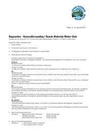 Dagsorden - Generalforsamling i Dansk Historisk Motor ... - DHMC.dk