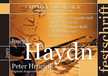 Peter Hrncirik - Cappella Ars Musica