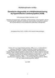 Multidisciplinaire richtlijn HCM definitief juni 2009 ... - Kwaliteitskoepel