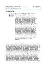 Het herstel van Israël - Bijbels Panorama