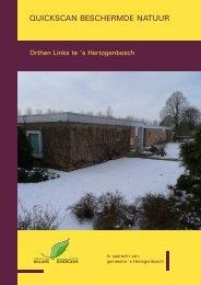 Bijlage 4: Quickscan Beschermde Natuur - s-Hertogenbosch