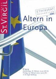 Folder zum Download - Altern in Europa - St. Virgil Salzburg