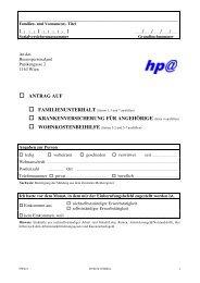 Antrag auf Familienunterhalt - Gemeinde Hippach