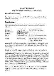 Formandens beretning - Aabybro Antennelaug