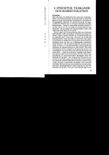 3. Struktur, tänkande och kommunikation - Dr Claes Davidson
