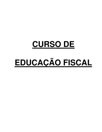 CURSO DE EDUCAÇÃO FISCAL - Sefaz - AL