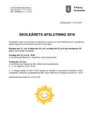 SKOLEÅRETS AFSLUTNING 2010 - Danmarksgades Skole