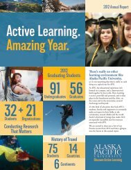 Download the Annual Report - Alaska Pacific University