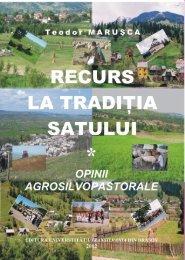 Recurs la tradiţia satului sau Opinii agrosilvopastorale - Institutul de ...