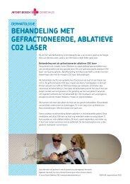 Behandeling met gefractioneerde, aBlatieve co2 laser
