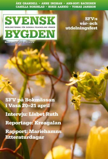 Svenskbygden 2-2013 - Svenska folkskolans vänner