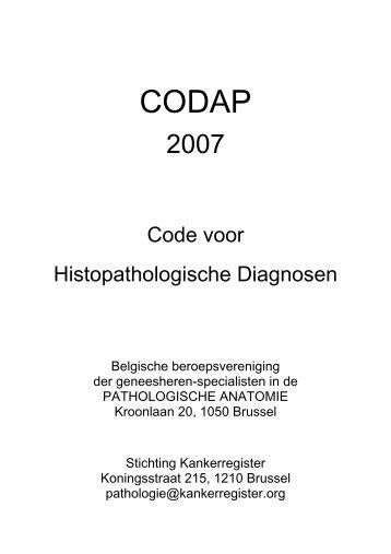 Lijst met alle officiële CODAP 2007 codes