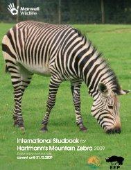 Hartmann's mountain zebra studbook 2009