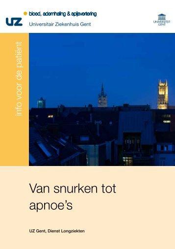 Van snurken tot apnoe's - UZ Gent