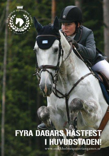 fyra dagars hästfest i huvudstaden! - Stockholm Equestrian Games