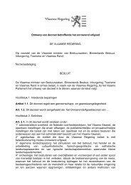 Ontwerp van decreet betreffende het onroerend erfgoed DE ... - RWO