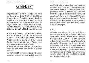 gildebrief - St. Sebastiaan Oosterhout