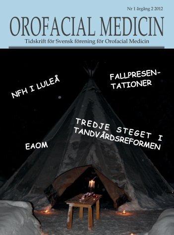 TREDJE STEGET I TANDVÅRDSREFORMEN - Svensk förening för ...