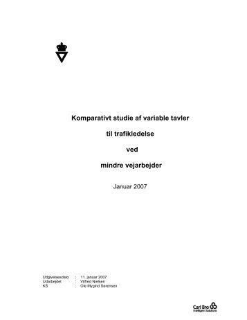Komparativt studie af variable tavler til trafikledelse ved ... - NVF-ITS