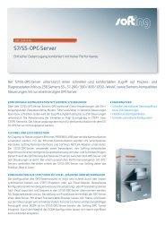 S7/S5 OPC Server Datenblatt - Softing Industrial Automation