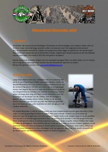 Nieuwsbrief December 2012 - Rotterdam Chapter