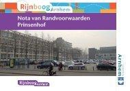 Nota van Randvoorwaarden Prinsenhof - Rijnboog