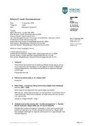 Referat af møde i grundvandsforum d. 4. december 2008 - Viborg Kommune