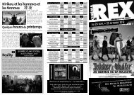 Télécharger le programme du Cinéma Le Rex à - Ze Guide
