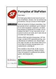 Generalforsamling i SF Helsingør Fornyelse af StaFetten