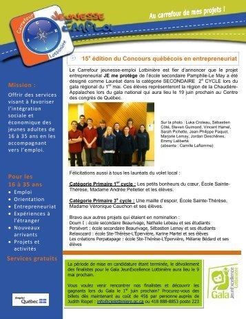 Pour les 16 à 35 ans Services gratuits Mission : - Le Carrefour ...
