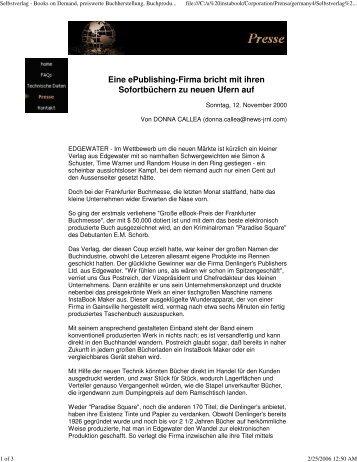 Selbstverlag - Books on Demand, preiswerte Buchherstellung, B...