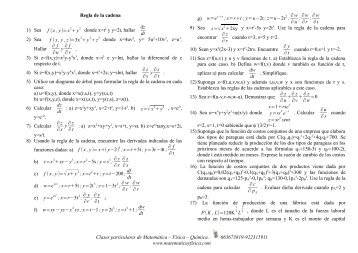 Regla de la cadena - matemática-física-química