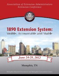1890 Extension System: - Association of Extension Administrators