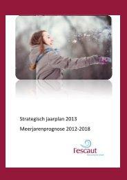 Strategisch jaarplan 2013 - l'escaut