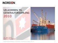 pdf her - Dampskibsselskabet NORDEN A/S