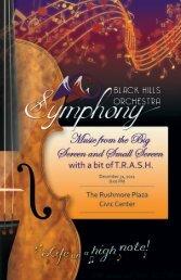 Tonight's Concert - Black Hills Symphony
