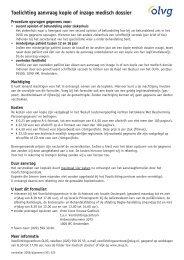 Toelichting aanvraag kopie of inzage medisch dossier - Olvg