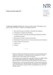 Referat af ordinær generalforsamling 2013 - NTR Holding