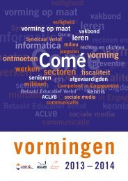 vormingen - ACLVB - Vlaanderen